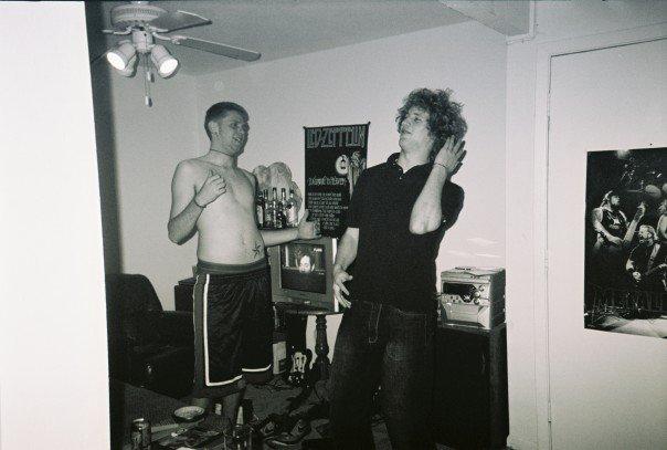 Matt and Matty getting silly after no sleep.